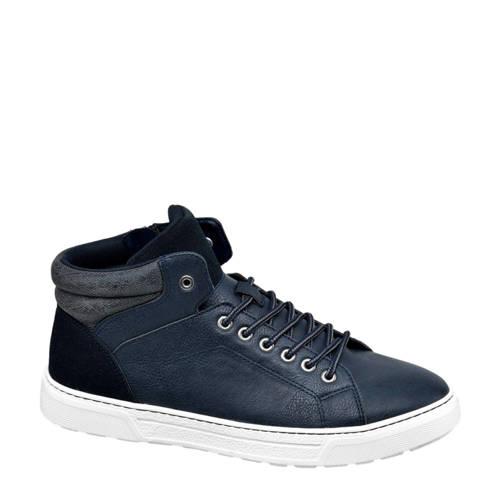 Venice halfhoge sneakers blauw