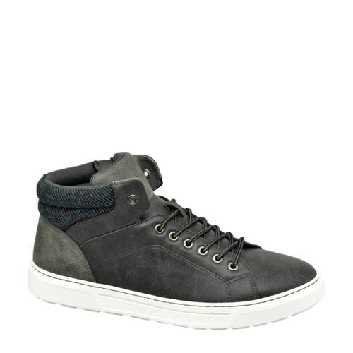Venice halfhoge sneakers grijs