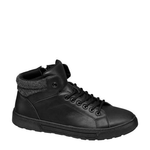 Venice halfhoge sneakers zwart