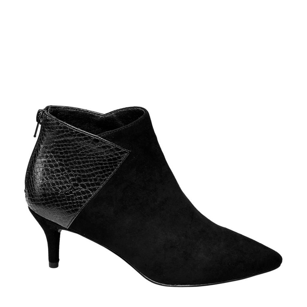 Graceland   enkellaarzen slangenprint zwart, Zwart