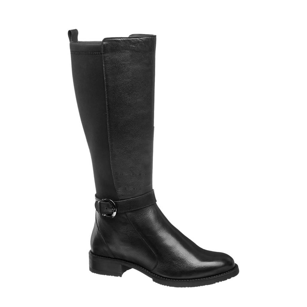 5th Avenue   leren laarzen zwart, Zwart