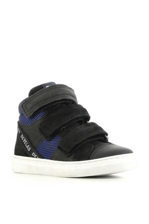 41217 leren sneakers blauw