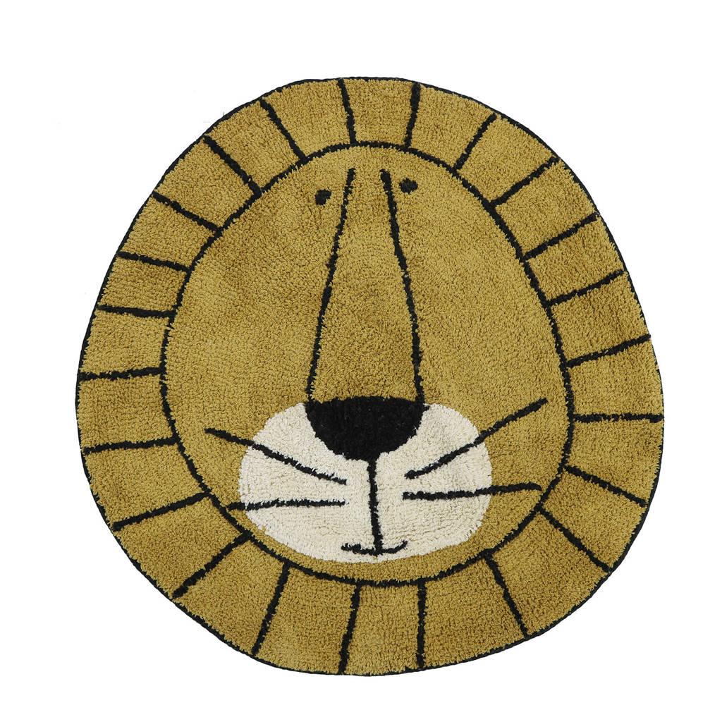 Tapis Petit kindervloerkleed Rug Lion  (Ø100 cm), Okergeel