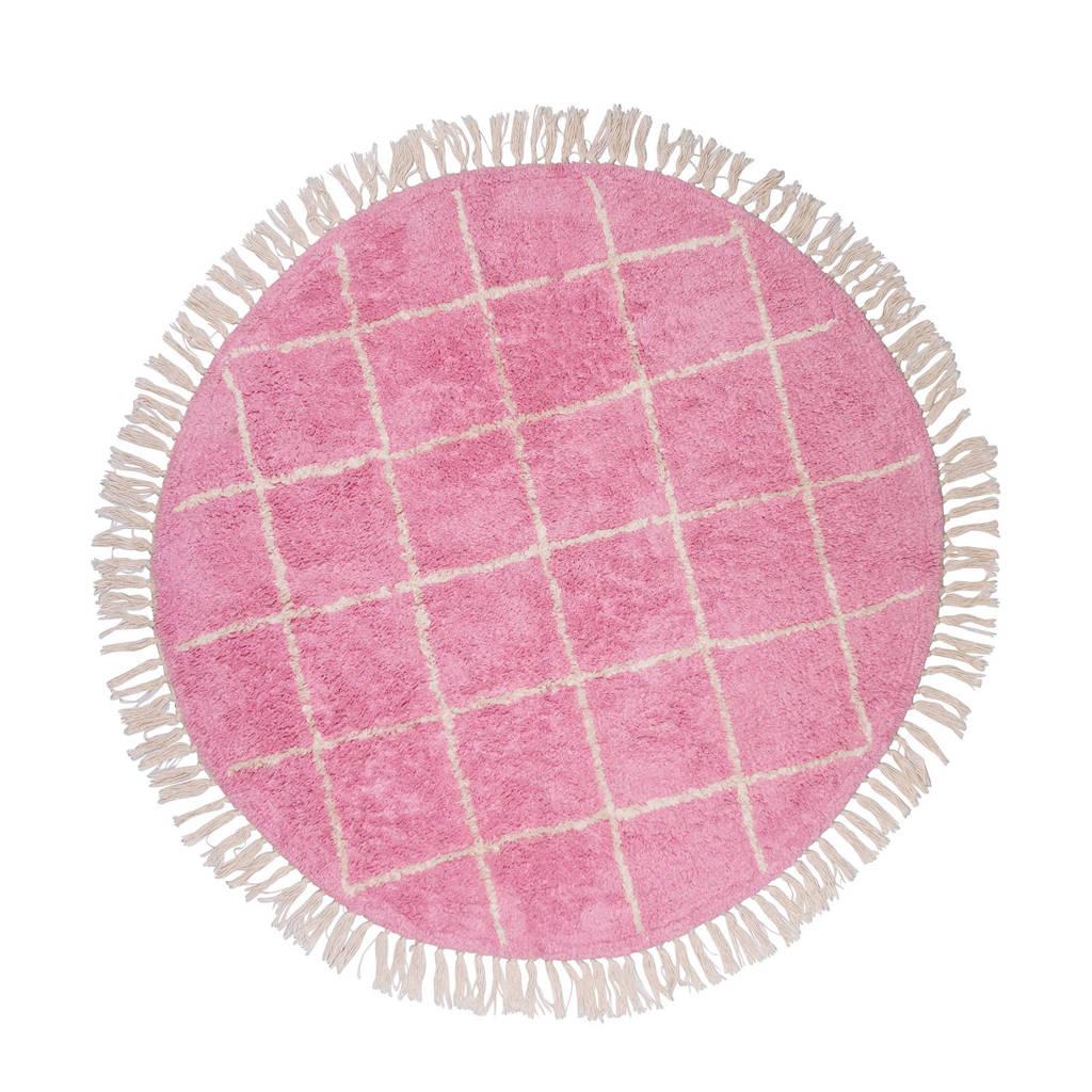 Tapis Petit vloerkleed Rug Round   (Ø100 cm), Roze