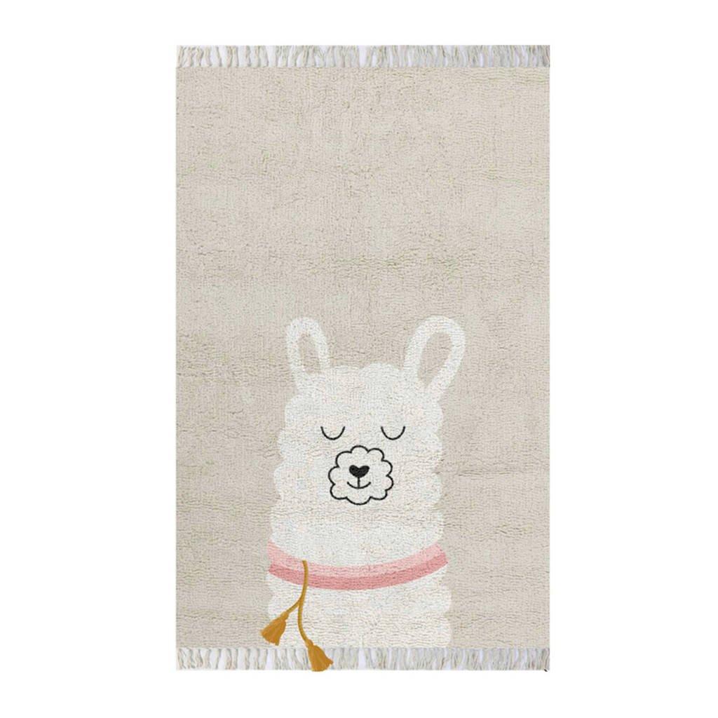 Tapis Petit vloerkleed Rug Lama  (125x90 cm), Beige