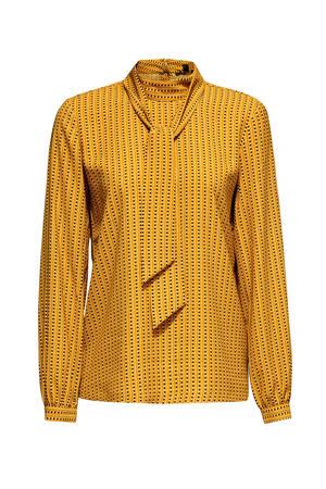 Women Collection top met all over print geel