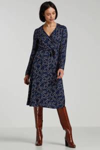 edc Women jersey jurk met all over print en ceintuur blauw multi, Blauw multi