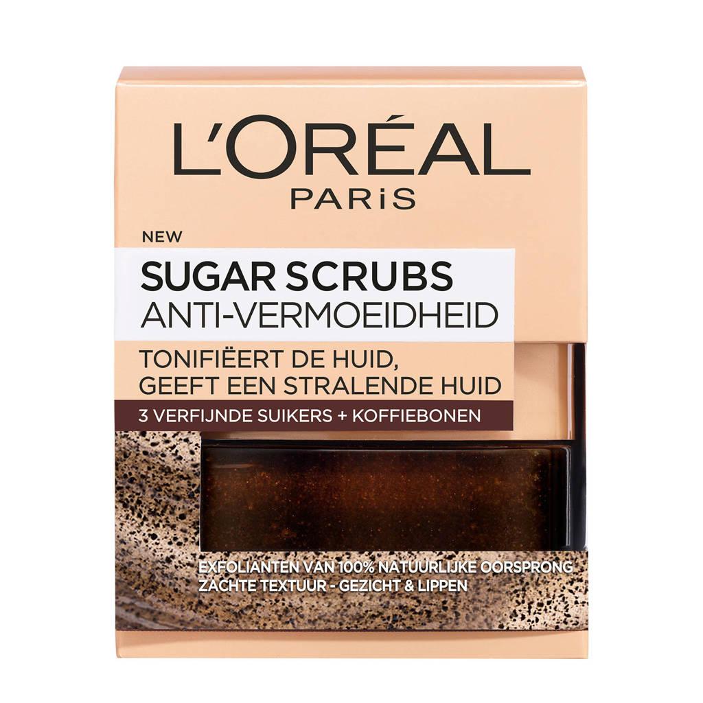 L'Oréal Paris Skin Expert Sugar Scrubs Coffee - Anti-vermoeidheid met Koffiebonen - 50ml - Exfoliërend