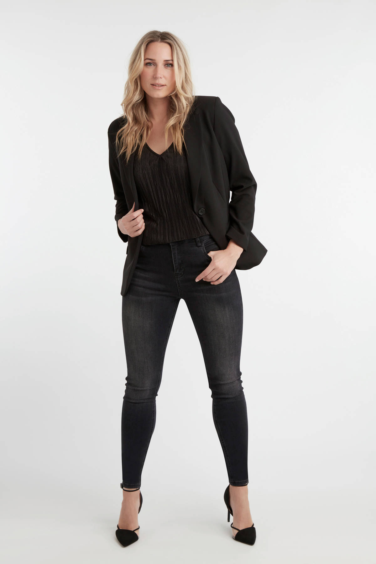MS Mode skinny jeans zwart