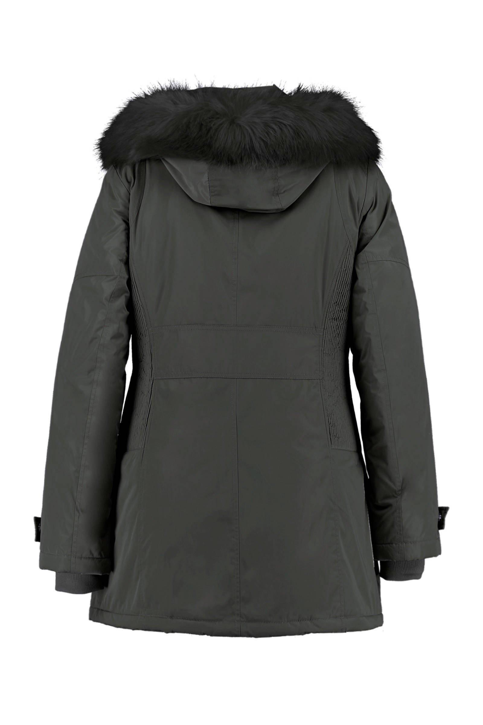 MS Mode winterjas zwart   wehkamp