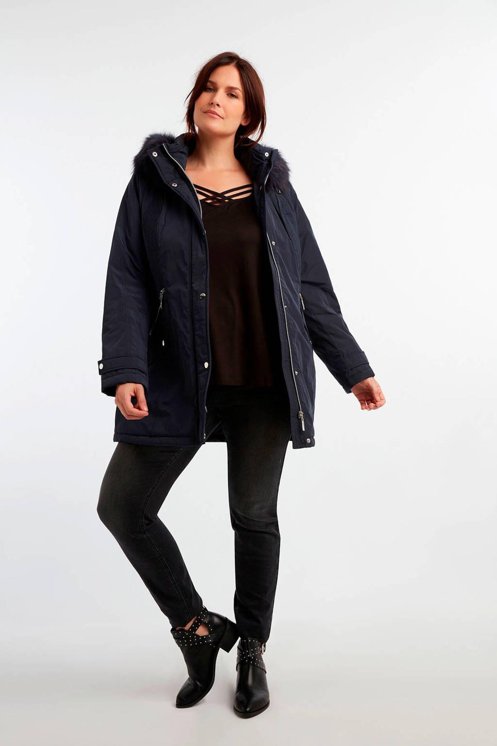 MS Mode winterjas donkerblauw, Donkerblauw