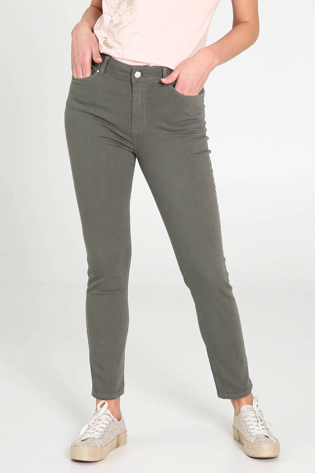 Cassis regular fit broek kaki, Kaki