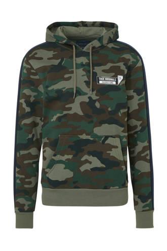 Angelo Litrico hoodie met biologisch katoen groen
