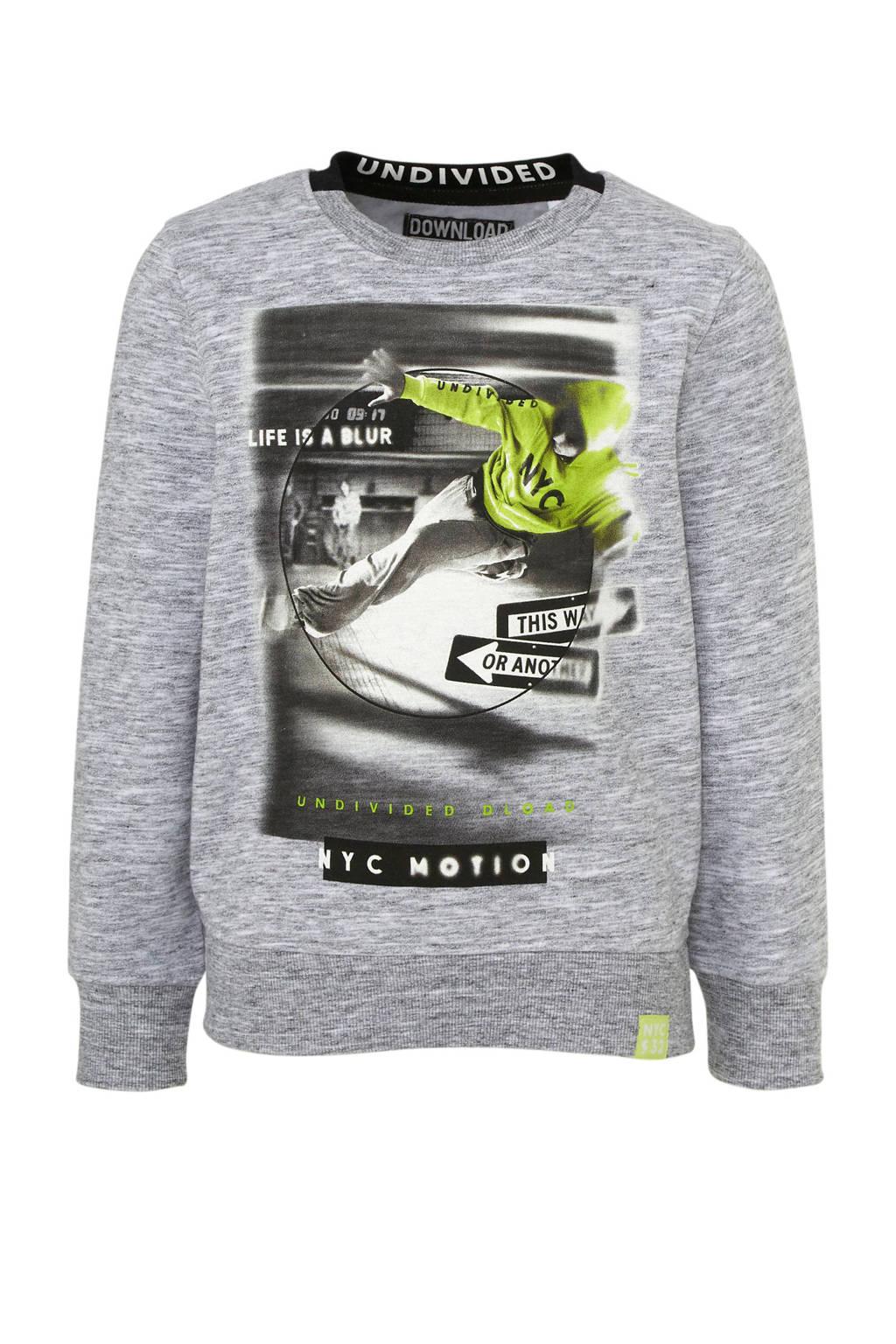 C&A Here & There sweater met printopdruk grijs melange, Grijs melange