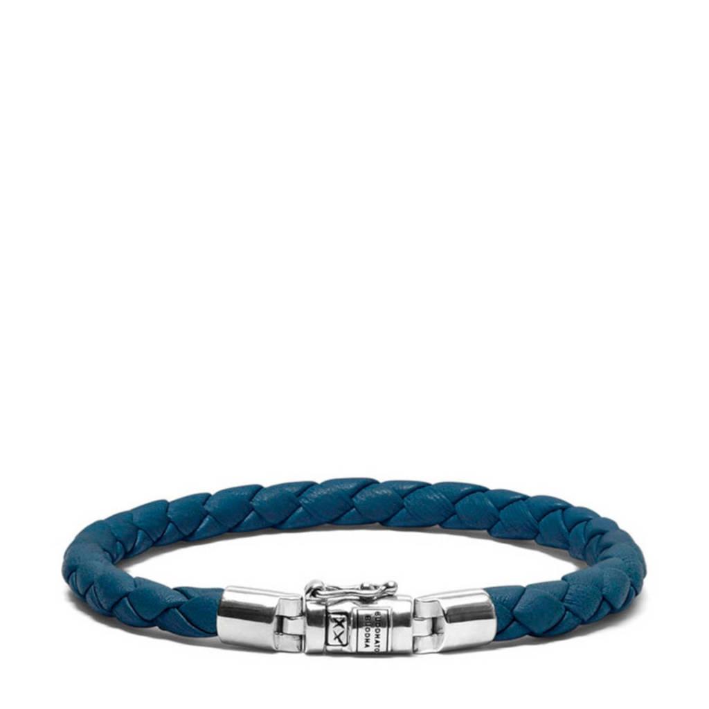 Buddha To Buddha leren armband BTBJ545RE blauw, Blauw