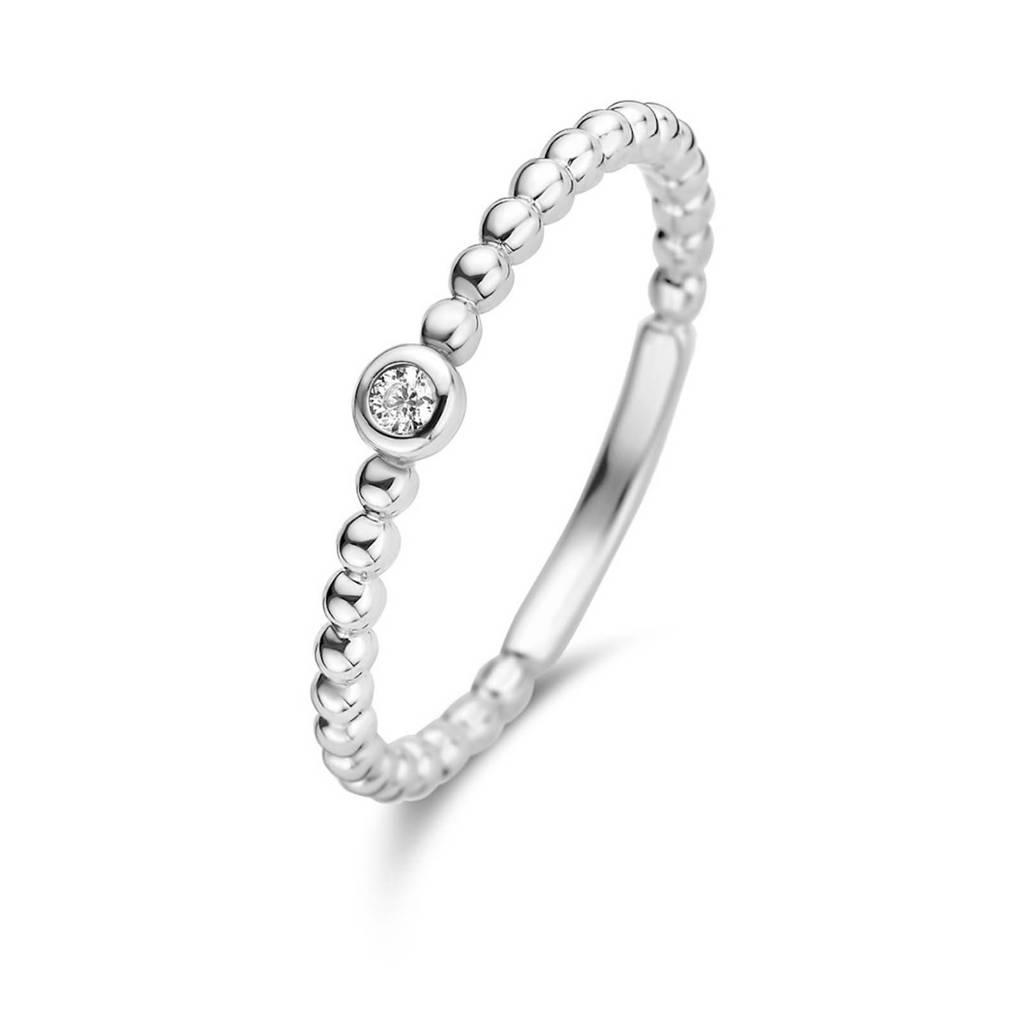 Isabel Bernard 14 karaat witgouden ring - IB4105128, Zilverkleurig