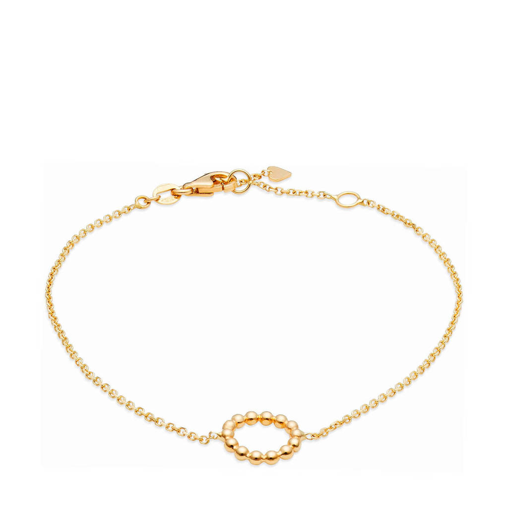 Isabel Bernard 14 karaat gouden armband - B4020612, Goudkleurig