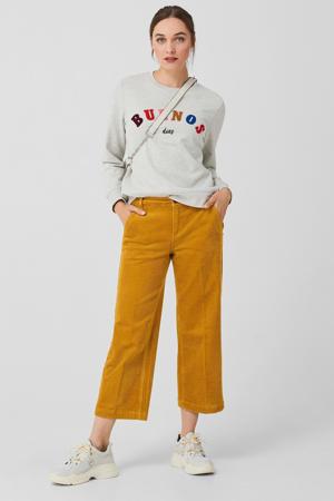 corduroy culotte geel