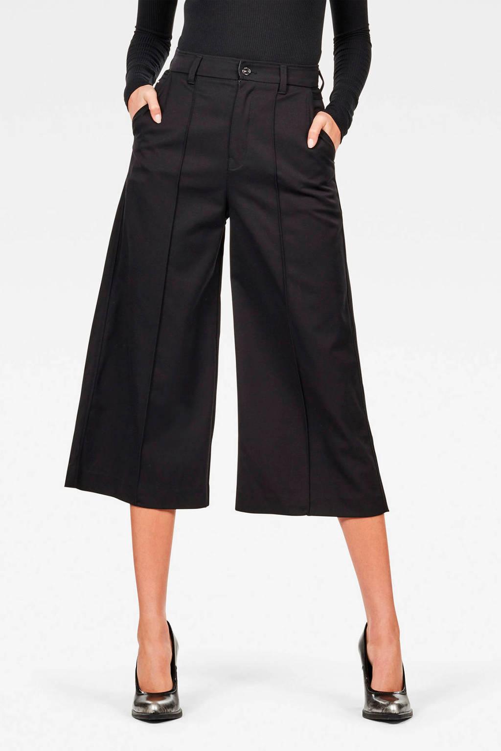 G-Star RAW high waist culotte zwart, Zwart