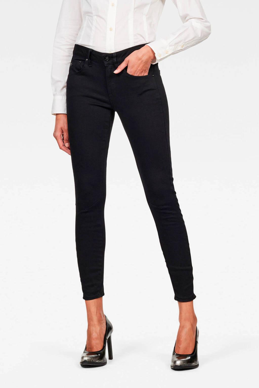 G-Star RAW cropped skinny jeans Arc zwart, Zwart