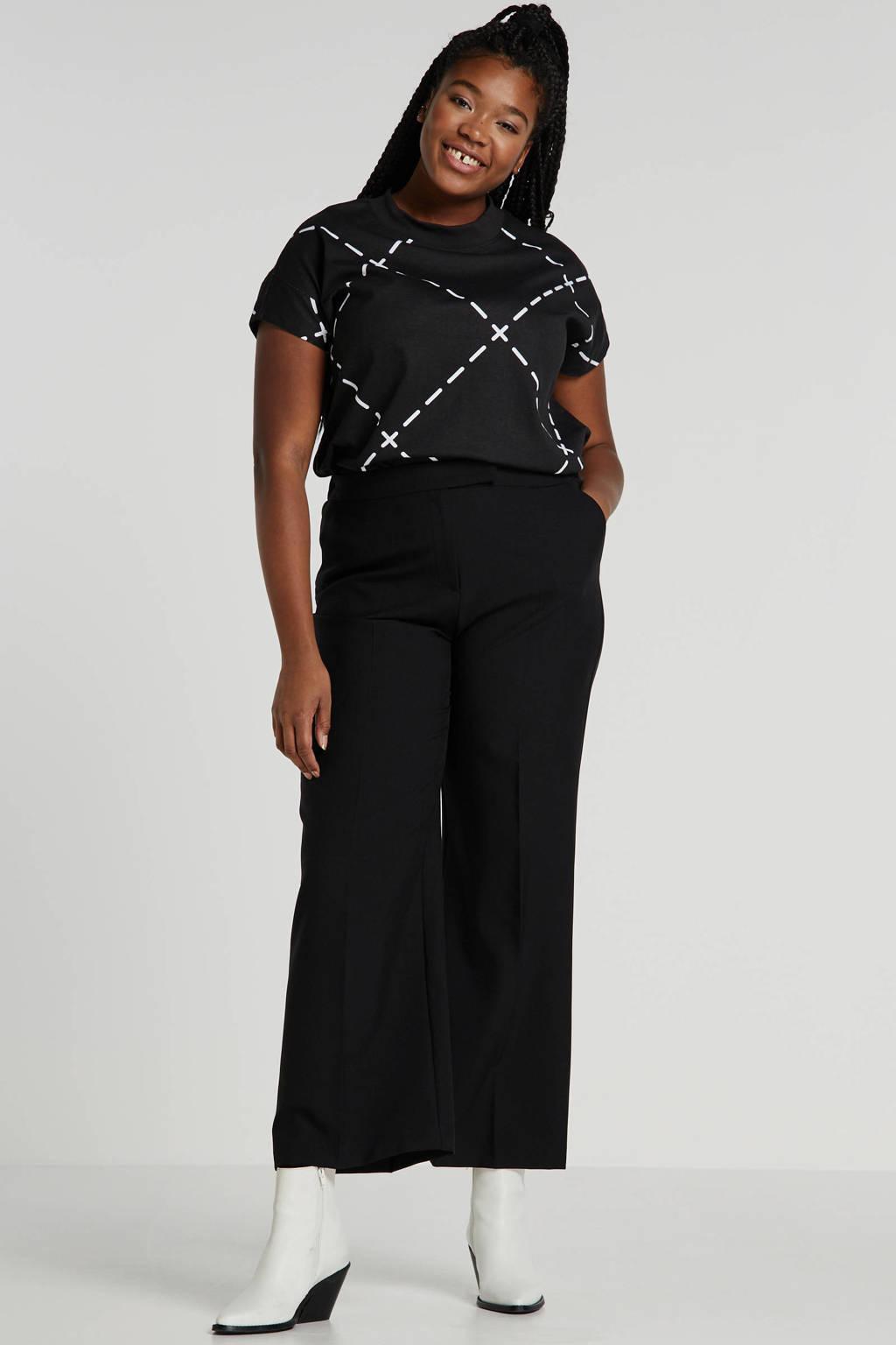 Simply Be T-shirt met printopdruk zwart/wit, Zwart/wit