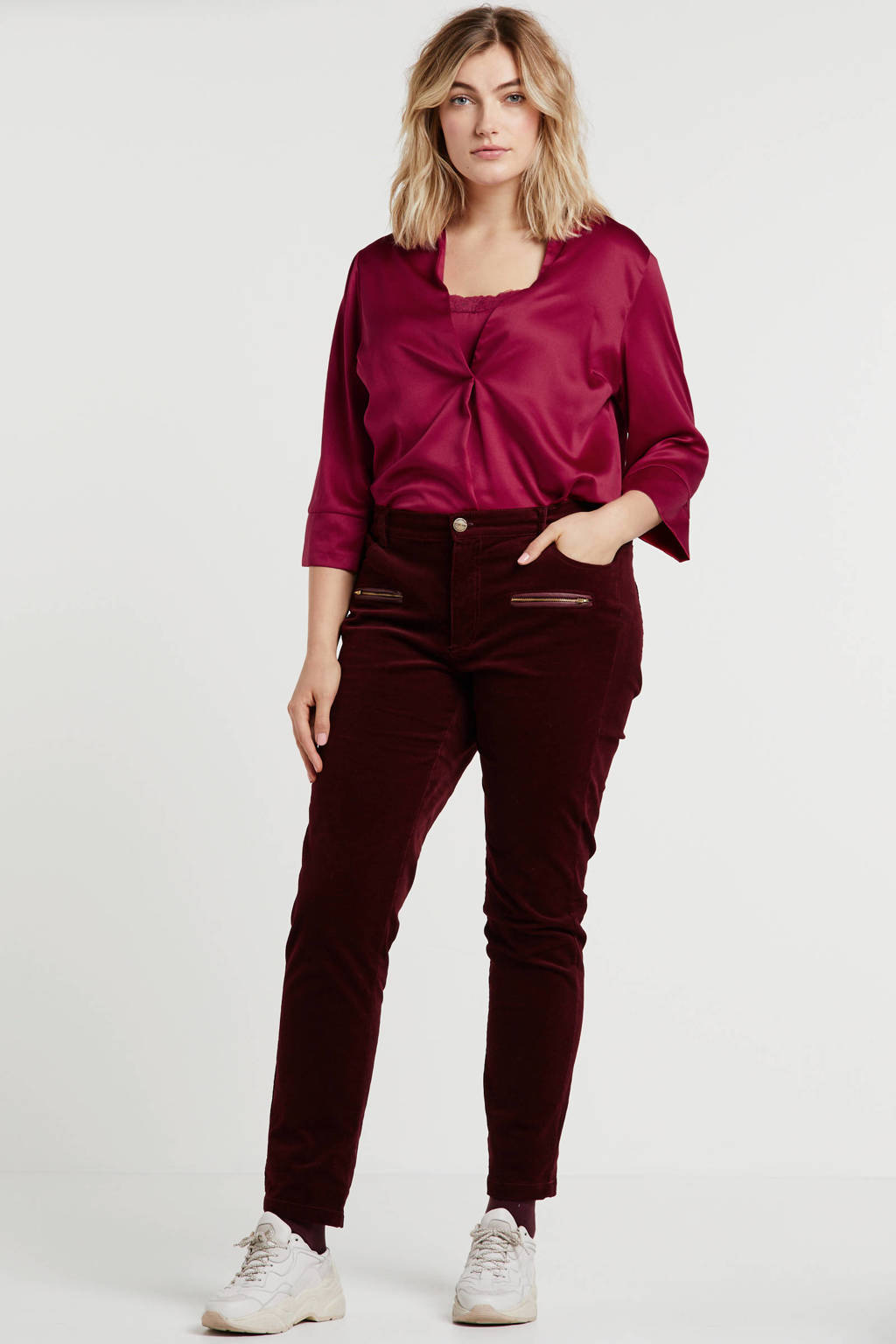 Simply Be Capsule top donkerrood, Donkerrood