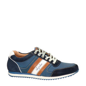 Cornwell  leren sneakers blauw
