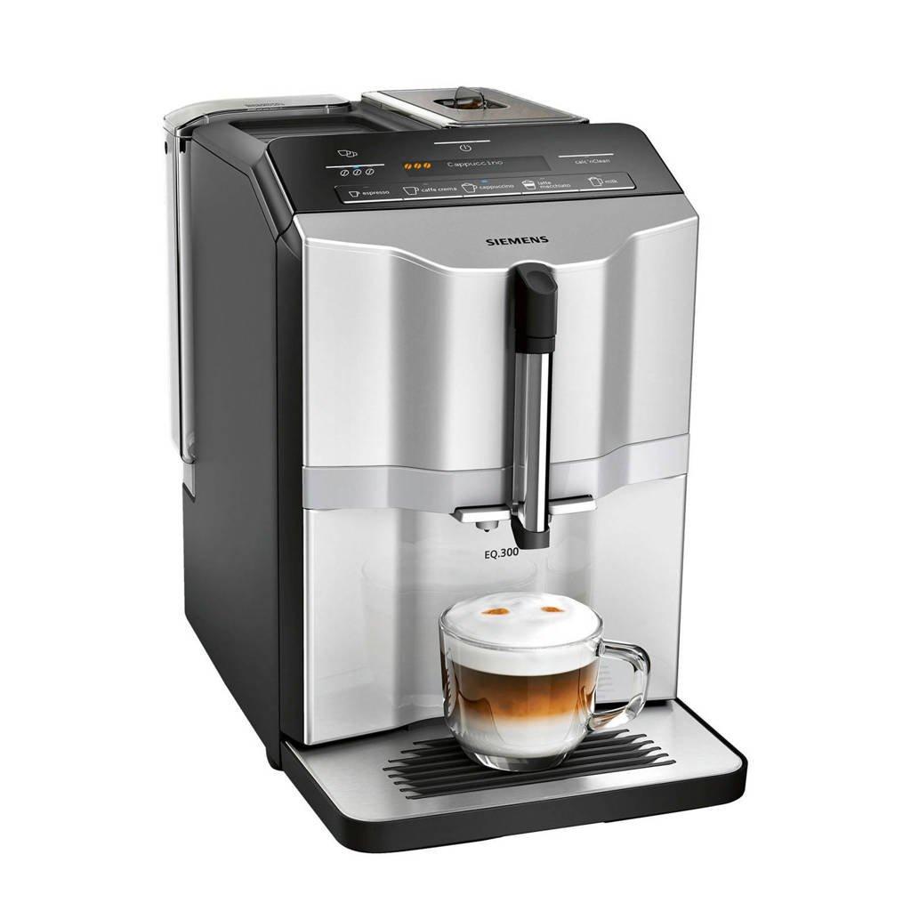 Siemens TI353201RW koffiemachine, Zwart, Roestvrij staal