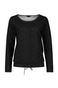 Claudia Sträter gemêleerde trui zwart, Zwart