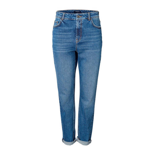 PIECES high waist mom jeans blauw