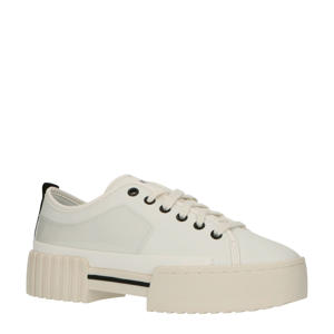 S-MERLEY LC  leren plateau sneakers wit