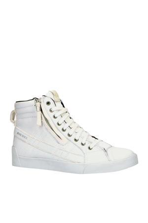 D-String Plus  hoge leren sneakers off white