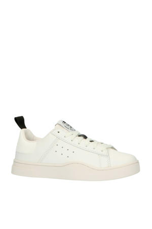 S-CLEVER LOW W  leren sneakers wit