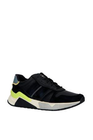 S-Brentha Flow  leren sneakers zwart