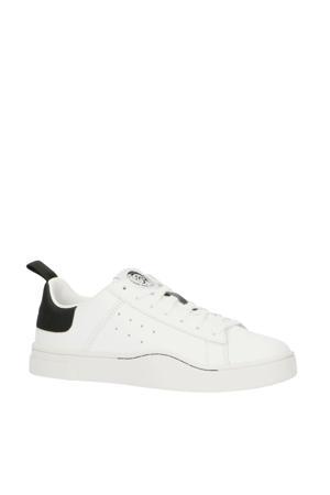 S-Clever Low  leren sneakers wit/zwart