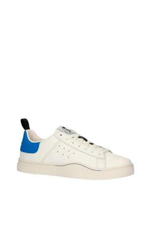 S-Clever Low  leren sneakers wit/blauw