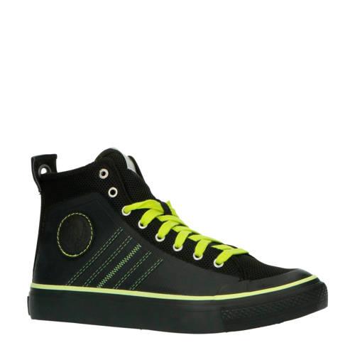 Diesel S-Astico MC H halfhoge sneakers zwart/geel