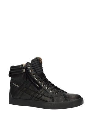 D-String Plus  hoge leren sneakers zwart