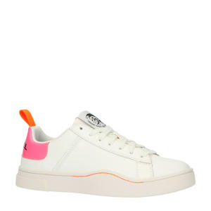 S-Clever Low Lace W  leren sneakers wit/roze