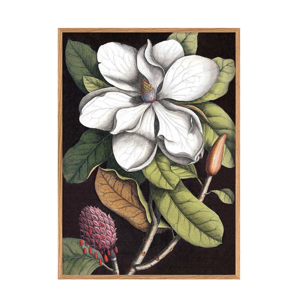 The Dybdahl Co wanddecoratie Blooming White Magnolia (30x40 cm)
