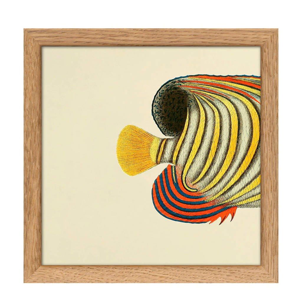 The Dybdahl Co poster Mini Half Fish  (15x15 cm), Multicolor