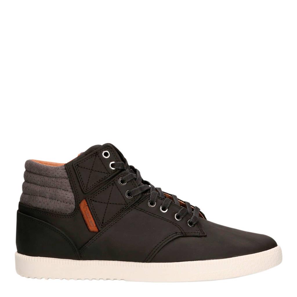 O'Neill Raybay LX  hoge leren sneakers zwart, Zwart/grijs
