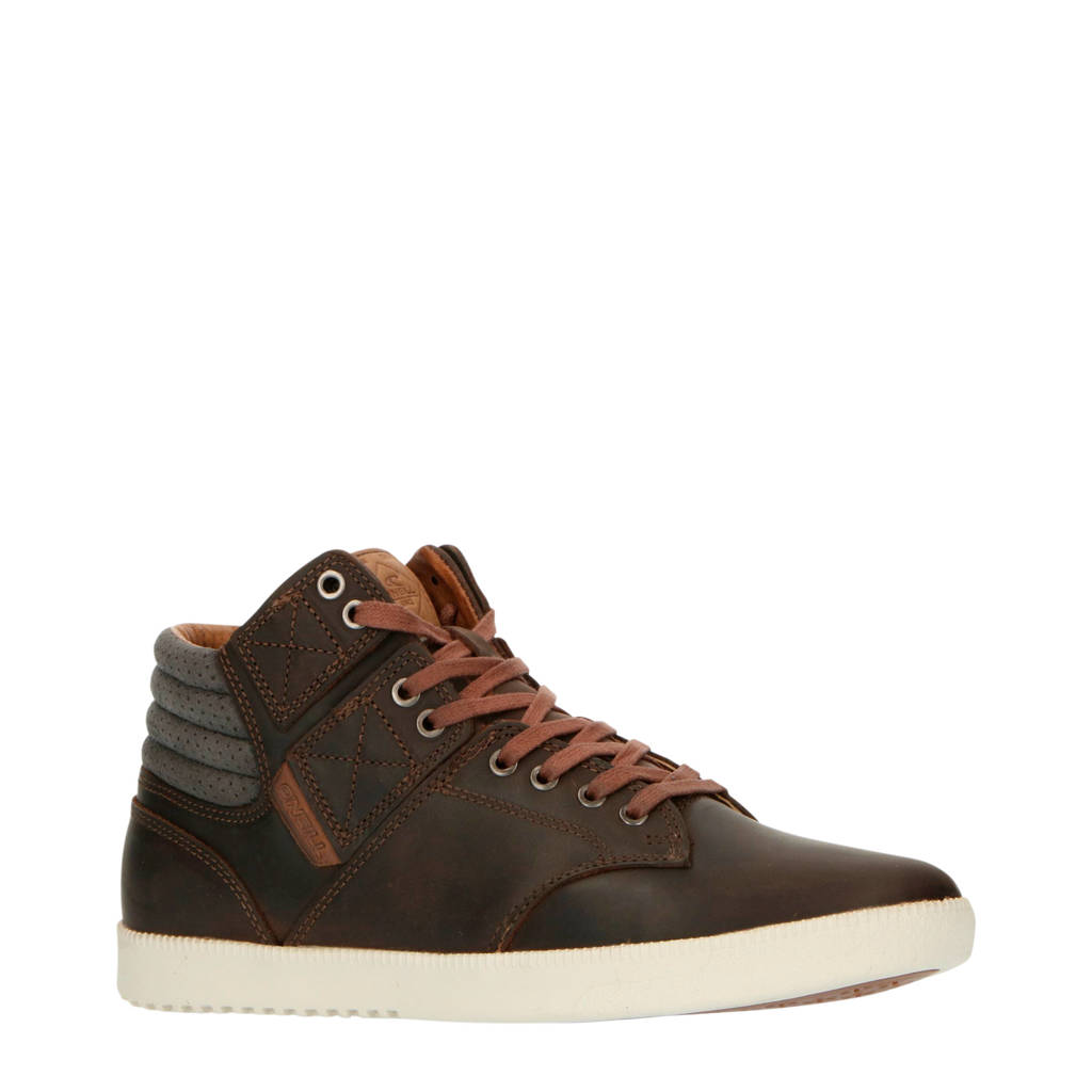 O'Neill Raybay LX  hoge leren sneakers donkerbruin, Bruin