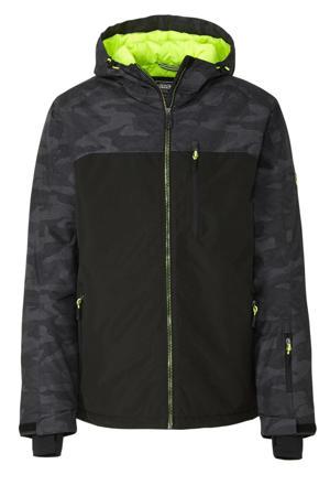 ski-jack zwart/grijs