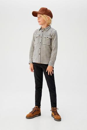 geruit overhemd grijs/ecru