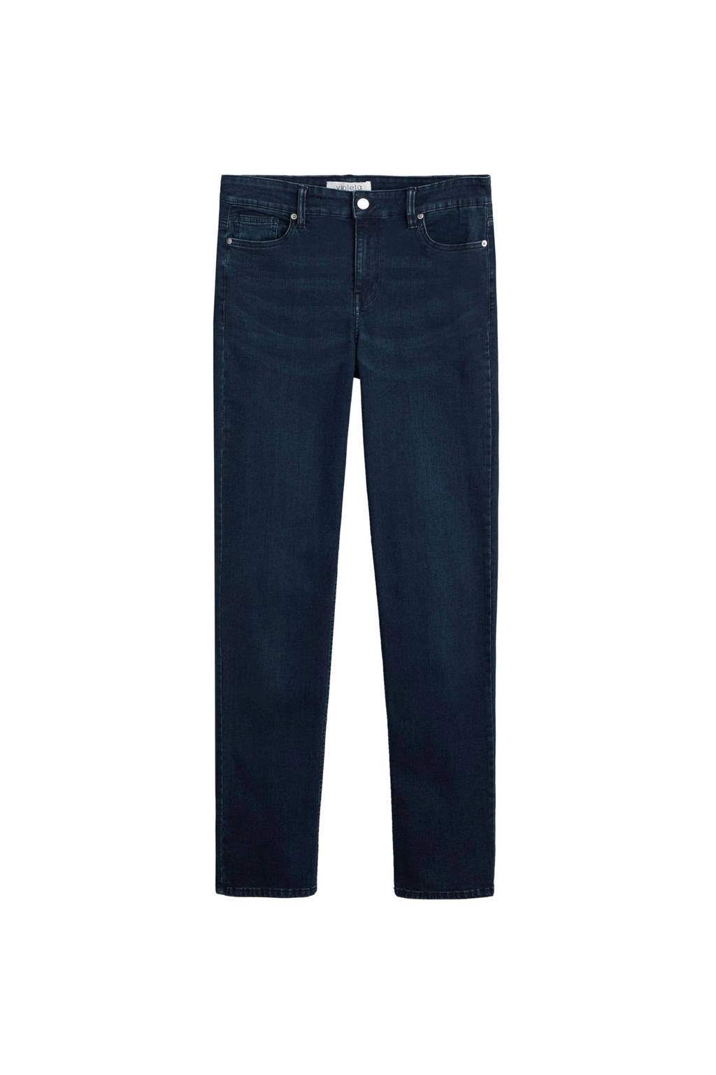 Violeta by Mango straight fit jeans donkerblauw, Donkerblauw