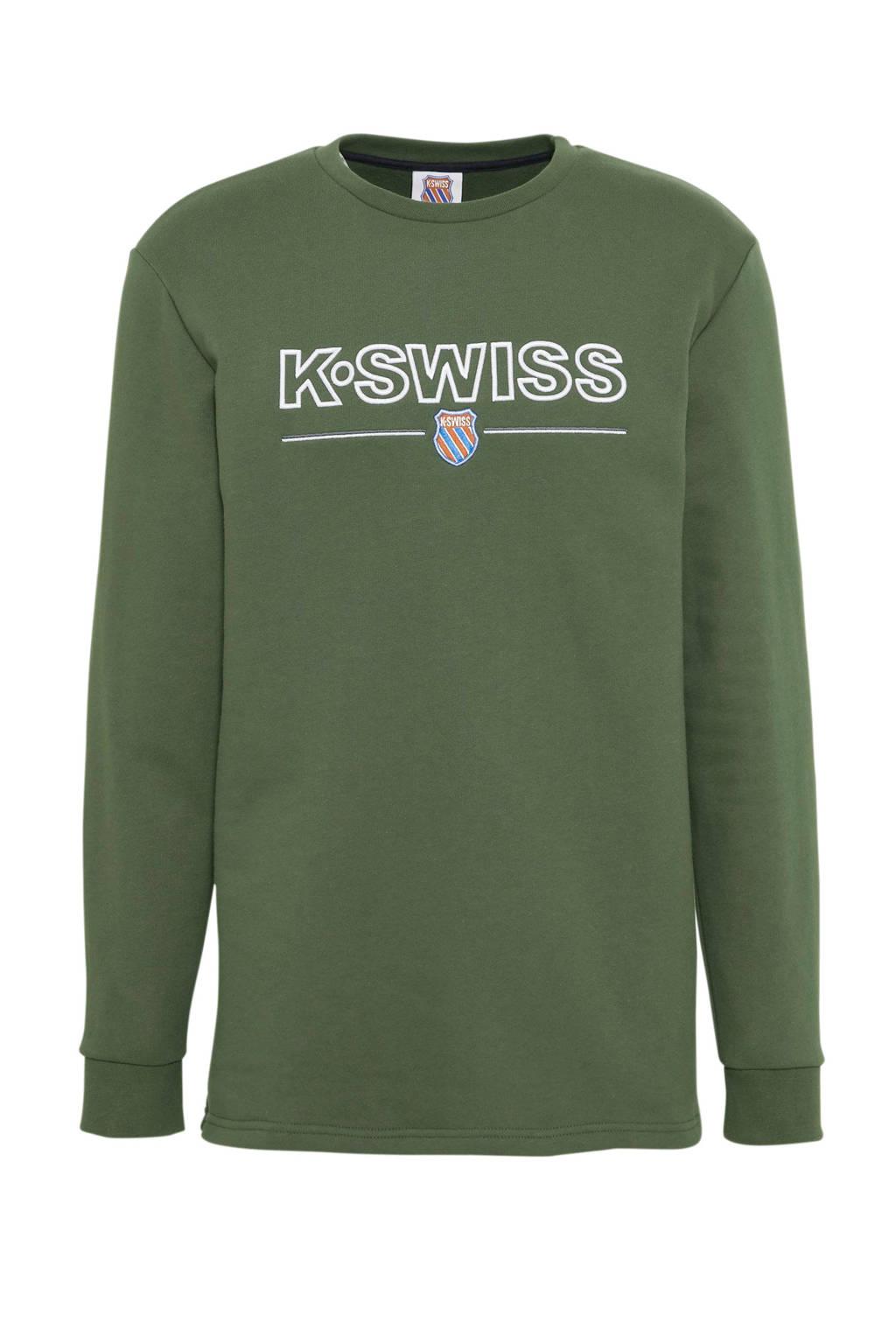 K-Swiss   sweater kakigroen, Kakigroen