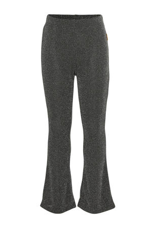 flared broek met glitterdraad Sonnita zwart