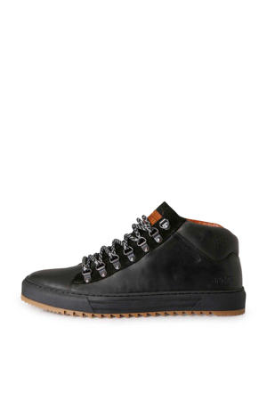Bolina Mid  leren sneakers zwart