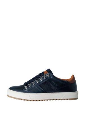 Carcavelos Low  leren sneakers blauw